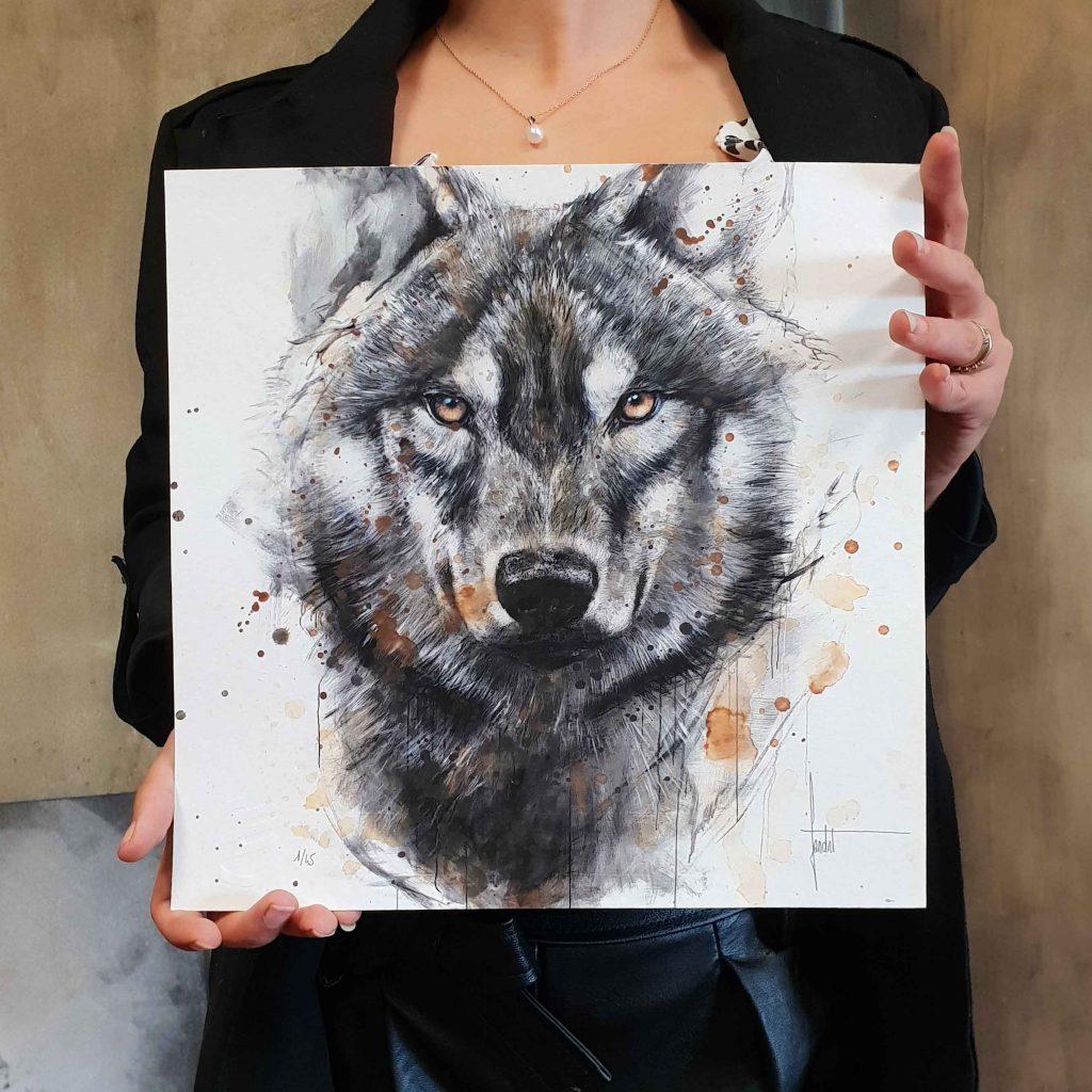 Un loup en digigraphie proposé par Sandrot