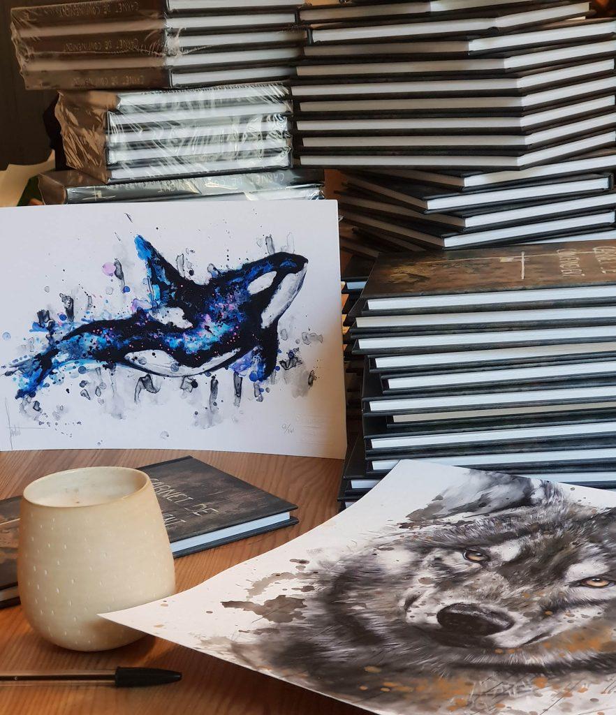 Digigraphies et livres d'art de qualité à la maison d'éditions de Sandrot