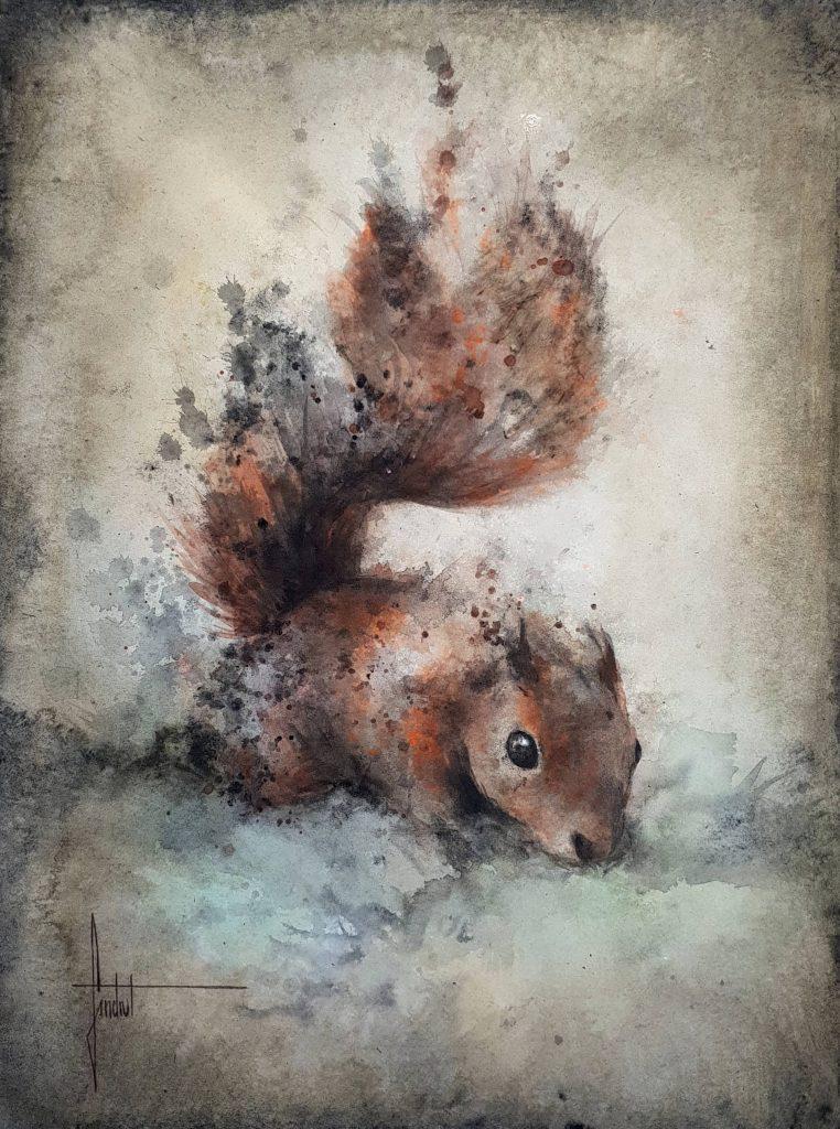 Petit écureuil dans la nature par Sandrot