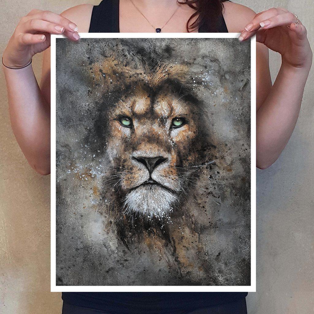 Tirage d'art lion par Sandrot Artiste